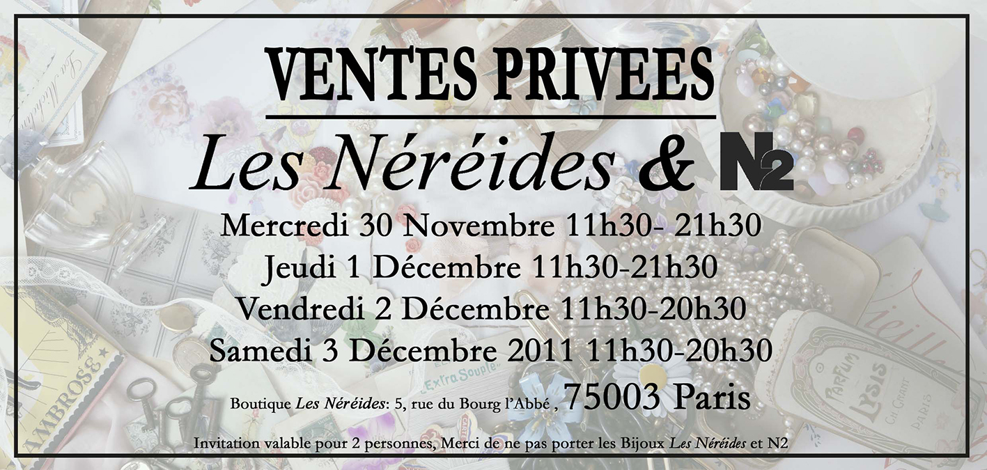 Invitation vente priv e bel air une parenth se mode - Vente privee bel air ...