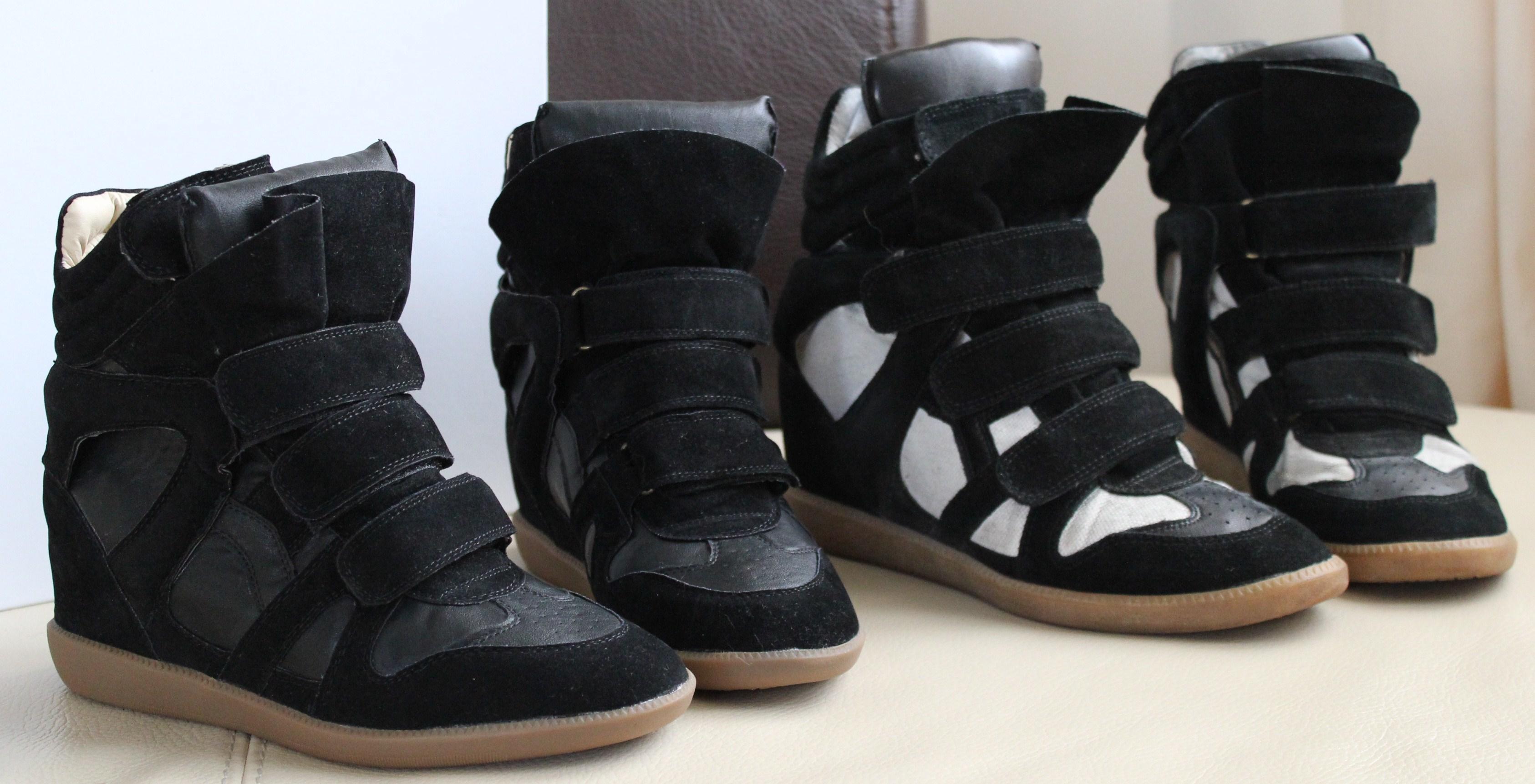 Comme vous l'avez sûrement remarqué dans mes looks, j'ai une paire de sneakers à scratchs Isabel Marant, le modèle noir et écru.